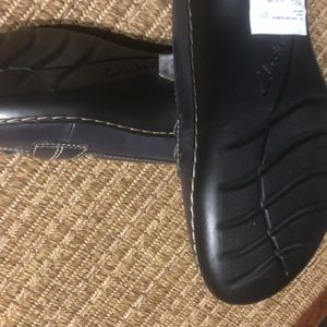 Blue Clarks soft cushion loafers. NWT Never worn.